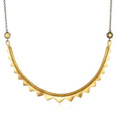 Citrine Gunmetal Collar Necklace | Satya Jewelry Oh how we love Satya!