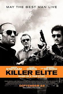 Killer Elite on DVD January 2012 starring Jason Statham, Clive Owen, Dominic Purcell, Robert De Niro. Recounts the true story of an elite group of vigilantes drawn from the ranks of England's select paramilitary operatives, who were charged w Clive Owen, Great Movies, New Movies, Movies To Watch, Movies Online, Books Online, Dominic Purcell, Jason Statham Movies, Action Movies