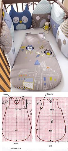 Make sure you take the right sleeping bag. Check out the Archer Outdoor Ger Ultra Light Duck Down Sleeping Bag. Baby Knitting Patterns, Baby Patterns, Baby Sewing Projects, Sewing For Kids, Sewing Crafts, Quilt Baby, Sleep Sacks, Baby Crafts, Baby Bibs