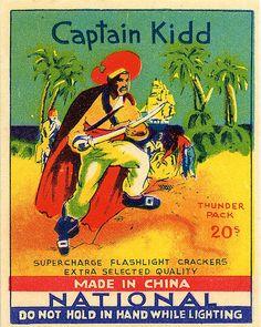 Gorgeous image, dubious product: Captain Kidd Brand ~ Supercharge Flashlight Crackers