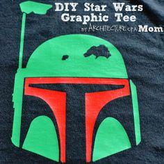 DIY Boba Fett Star Wars Graphic Tee