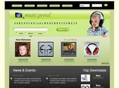 Get Music Portal Business Template - http://www.designsave.net/2017/02/get-music-portal-business-template.html