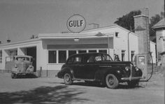 1950s Gulf Station, Oldsmobile Series 70