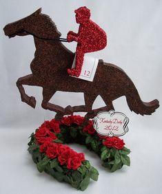 jockey and horse kentucky derby centerpiece