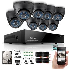 Funlux 8CH 960H HDMI Security DVR Outdoor Video Surveillance Camera System 500G #Funlux