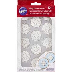 Sparkle Snowflakes Icing Decorations