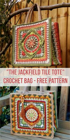 The Jackfield Tile Tote Crochet Bag - Free Pattern