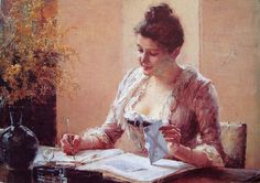 WOMAN WRITING A LETTER -