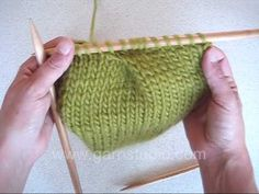 Knitted Pleat  Making pleats on the waistline, or at an empire cut cardigan creates very elegant and feminine knitwear design. The video shows first a pleat that opens up to the left and then a pleat that opens up to the right.