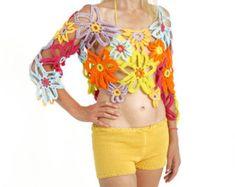 flores mujer tapa del ganchillo crochet flores daisy por kikapaca