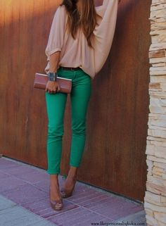 green skinnies.