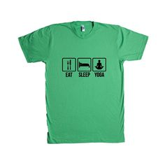 Eat Sleep Yoga Repeat Routine Exercising Exercise Fitness Healthy Stretching Stretch Fit Working Out Workout SGAL7 Unisex T Shirt