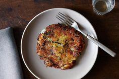 Scallion Potato Pancakes with Vinegar Cream recipe: A very simple traditional Swiss dish called rösti. #food52