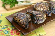 Herb Marinated Grilled Pork Chops