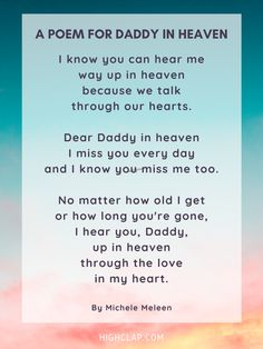 Happy Fathers Day Poems, Father Poems, Dad Poems, Diy Father's Day Gifts, Father's Day Diy, Daddy In Heaven, Heaven Poems, Wedding Day Wishes, Short Poems