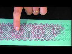 Un tutorial de Decoracion de Tortas, donde aprenderas a realizar puntillas comestibles con Moldes de Silicona. Secretos y ultimas novedades. A Cake Decoratin...