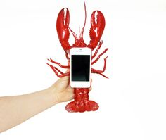 This is an iPhone case brought to us by Elliot Gorham aka Noddy Boffin. As you can see, it's a Lobster iPhone Case. Because Salvadore Dali said so, Mobile Phone Cases, Cool Phone Cases, Iphone Cases, Phone Covers, Smartphone, Crab Shack, Ipad Accessories, Coque Iphone, Creative Design
