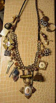 Steampunk Necklace One of Kind Jan Carlin version by decoderm007, $275.00