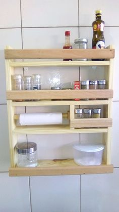Diy Furniture Easy, Diy Storage Table, Furniture Projects, Wooden Pallet Furniture, House Design Kitchen, Laundry Room Decor, Hanging Shelf Kitchen, Kitchen Pantry Design, Outdoor Kitchen Countertops