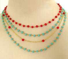 beaded necklace found @silverliningdecor on Etsy.