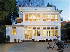 Really beautiful 2 story addition with lots of windows. Rooms to Roam - washingtonpost.com
