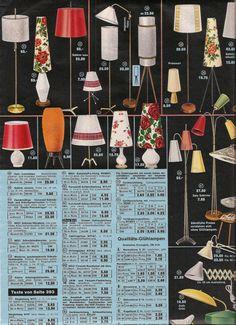 Retro Lighting 1960's Home Decor catalog pages