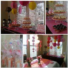 """Sprinkle"" for a baby girl - pink & orange"