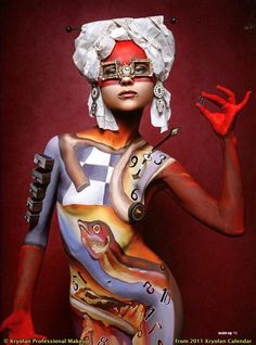 Dali inspired Body Paint by Kryolan