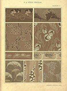 Textiles par E. A. Textiles, Rust Color Schemes, Design Elements, Design Art, Graphic Design, Motifs Art Nouveau, Fabric Rug, Design Graphique, Arts And Crafts Movement