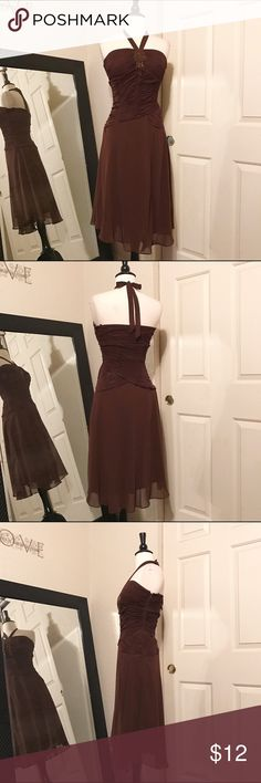Preowned Brown Party Dress Like new Dresses