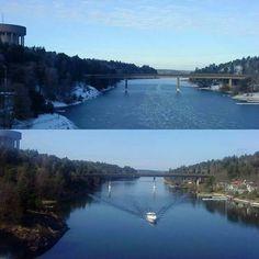 Summer/Winter #danderyd #stockholm #sweden #sverige #summer #winter  #bridges