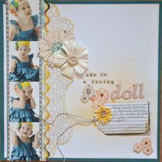 She is a living doll - Scrapbook.com - Adorable page. #scrapbooking #layouts