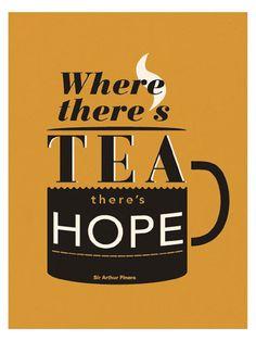 hunkydoryhome.co.uk Where there's tea there's hope tea towel