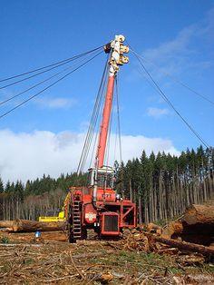 Mike Pihl Logging Co., Inc. A yarder.