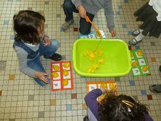 Welkom in het land van letters en woorden: Letters vissen in de watertafel!