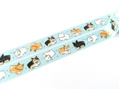 This listing is for 1 roll of Limited Edition Pembroke Welsh Corgi Washi Tape. Approximate sizes: Width: 15 mm Length: 10 m Made with real washi tape material that can be torn apart using your hand (n
