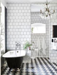 En Suecia: Belleza sin estridencias en blanco y negro.