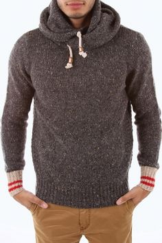 "Brands Store - Scotch  Soda Herren Hoddie ""hoody pull - naps yarn - contrast cuffs"" 
