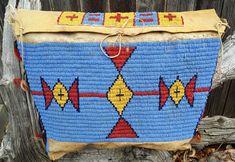 Sioux Beaded Hide Tipi Bag- Blue c. 1880s | Vedauwoo Antiquities