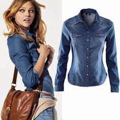 274eb2df51 Encontre Camisa Social Feminina Jeans Pronta Entrega Melhor Preco -  Calçados, Roupas e Bolsas no Mercado Livre Brasil. Descubra a melhor forma  de ...