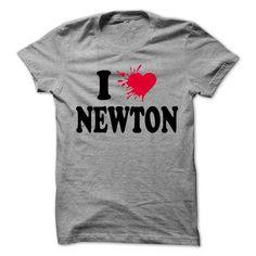 I love NEWTON - 99 Cool Name Shirt ! - #teacher gift #love gift. GET => https://www.sunfrog.com/LifeStyle/I-love-NEWTON--99-Cool-Name-Shirt-.html?68278