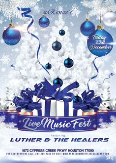 Live Music Fest Friday  featuring Luther & The Healers!