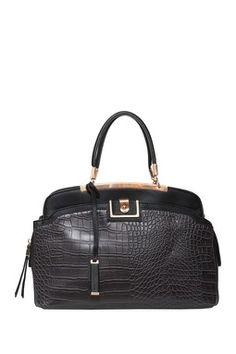 Elise Hope Margo Croc Embossed Satchel London Fog Clara Small Dome Handbag Casual Chic Stylesophisticated