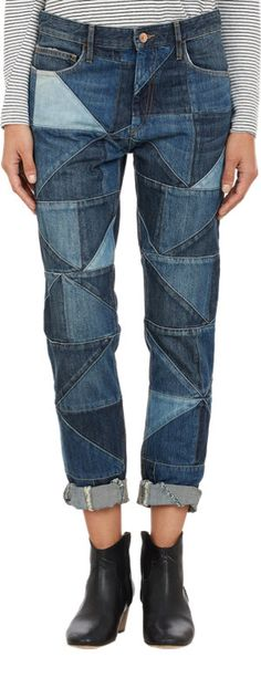 Isabel Marant patchwork jeans $139 Warehouse