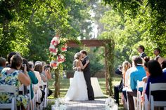 California Wedding- Asymmetrical Ceremony Arbor  Walnut Grove Wedding Moorpark, CA #wedding #weddingphotography #cawedding #kiss #weddingarbor #ceremony