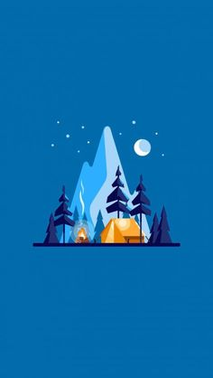 ClearSky Camp iPhone wallpaper - My Outdoorr Scenery Wallpaper, Art Design, Iphone Wallpaper, Flat Design Illustration, Graphic Design Illustration, Illustration Design, Landscape Illustration, Art Wallpaper, Minimal Wallpaper