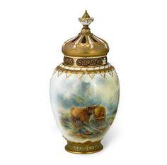 Antiques Atlas - Royal Worcester Fruit Pattern Vase Signed Lockyer ...