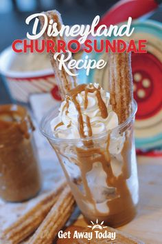 This Disneyland Churro Sundae Recipe is perfect for enjoying some Disney magic at home! I just got back from a visit to Disneyland. My family and I were able to see all of the fun Halloween Time decorations and sample s. Disneyland Food, Sundae Recipes, Dessert Recipes, Copycat Recipes, Disney Food Recipes, Baking Recipes, Sweet Taco, Horchata Recipe, Cinco De Mayo