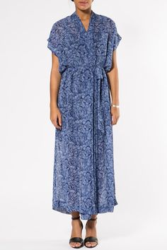 Olympia Chiffon Blue by Rodebjer Caftan Dress, Chiffon Dress, Kaftan, Swedish Fashion, Types Of Dresses, International Fashion, Pretty Dresses, Spring Summer Fashion, Wrap Dress