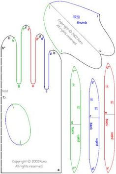 cloth glove design pattern